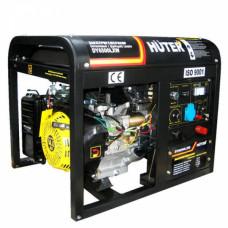 Бензиновый электрогенератор Huter DY6500LXW, с функцией сварки, с колёсами